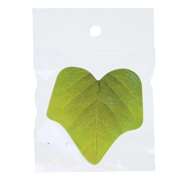 Блок с липким краем «Листья», 100 листов, МИКС
