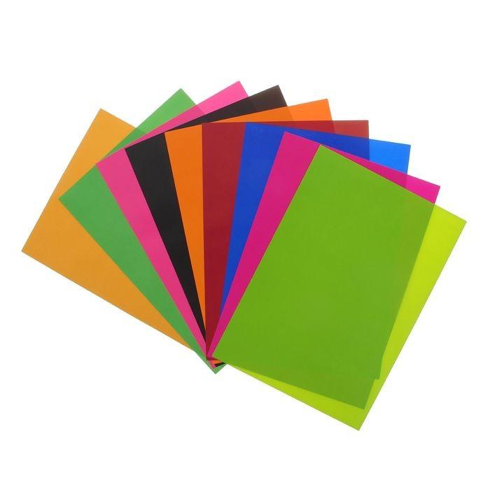 Бумага цветная двухсторонняя B5, 10 листoв, 20 цветов Erich Krause, мелованная