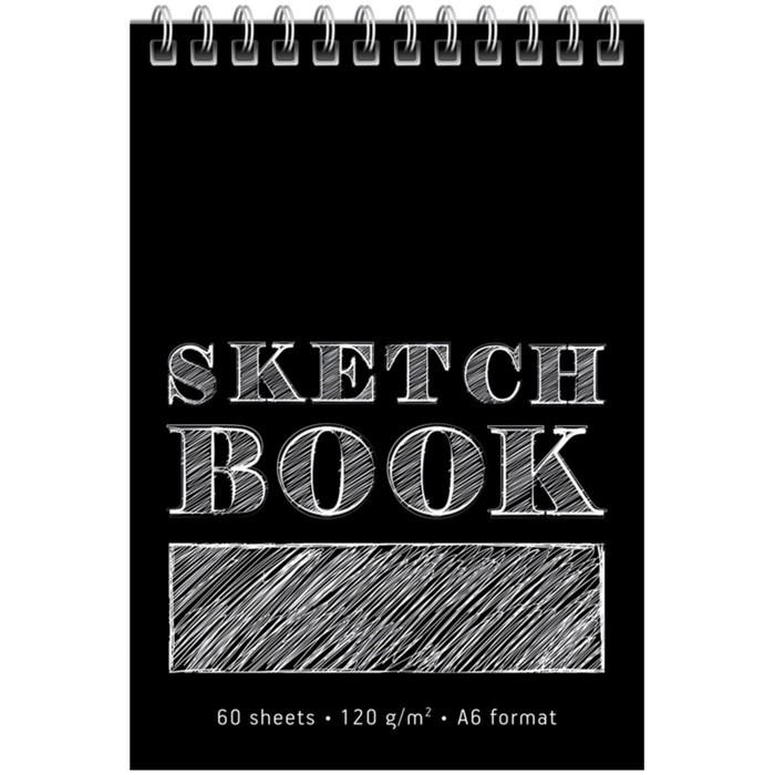 Скетчбук А6, 60 листов на гребне ArtSpace Monocolor