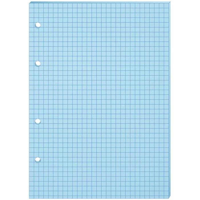 Сменный блок для тетрадей на кольцах А5, 80 листов OfficeSpace, голубой