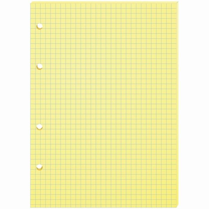 Сменный блок для тетрадей на кольцах А5, 80 листов OfficeSpace, жёлтый