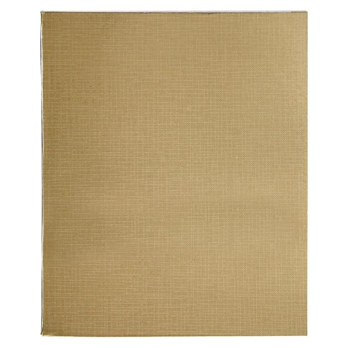 Тетрадь 96 листов клетка «Золотая. METALLIC», бумвинил