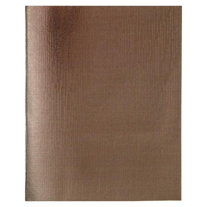 Тетрадь 96 листов клетка «Коричневая. METALLIC», бумвинил