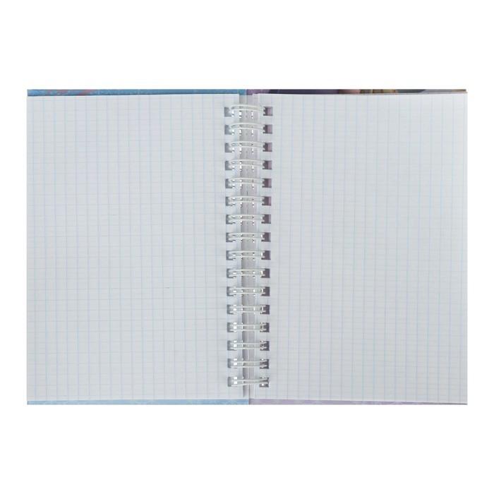 Записная книжка А6 80л на гребне Холодное сердце Disney двойная 80ЗКтд6В1гр_22471