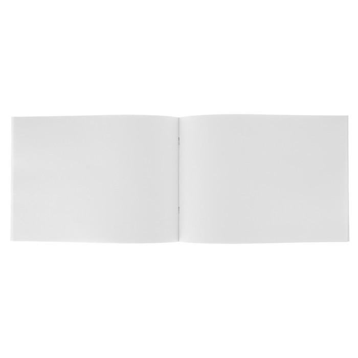 Альбом для рисования А4, 40 листов «Собачка и розы» обложка картон хром-эрзац