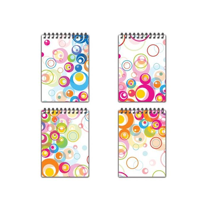 Блокнот А6, 60 листов на гребне «Пузыри», пластиковая обложка