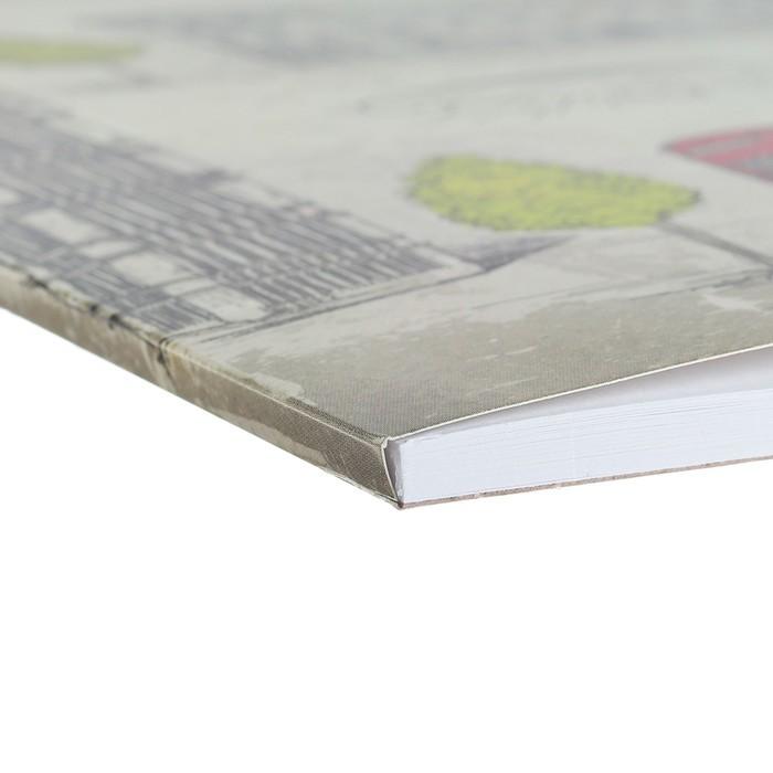 Альбом для рисования А4, 30 листов, на клею, Erich Krause Great Britain, блок 120 г/м2, обложка мелованный картон 170 г/м2, жёсткая подложка 360 г/м2, белизна 100%
