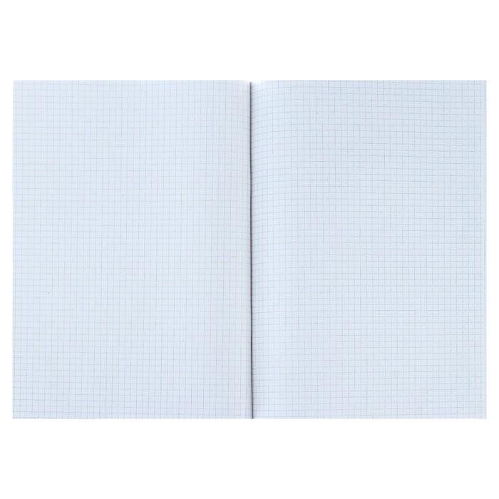 Тетрадь А4, 96 листов клетка Calligrata, «Однотонная. Синяя», белизна 75%, картонная обложка