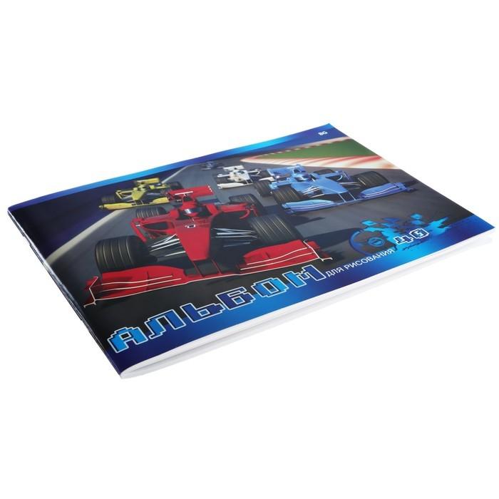 Альбом для рисования А4, 40 листов на скрепке «Формула-1», обложка мелованный картон, МИКС