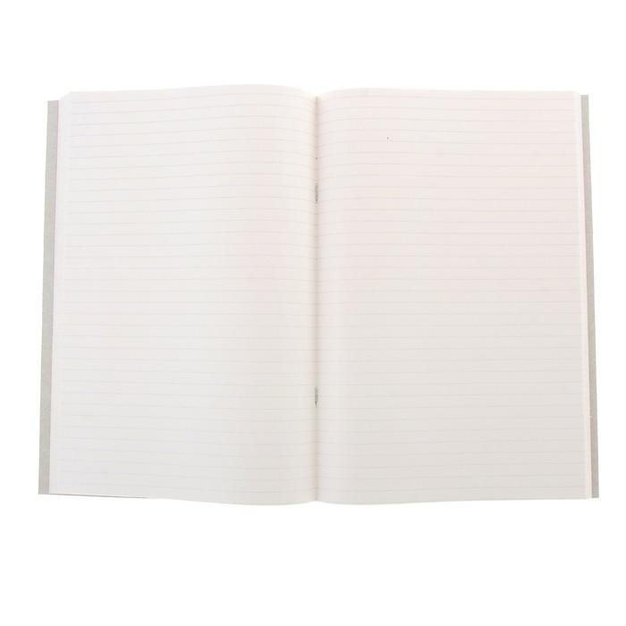 Книга учёта А4, 96 листов, в линейку, цветная обложка, офсет