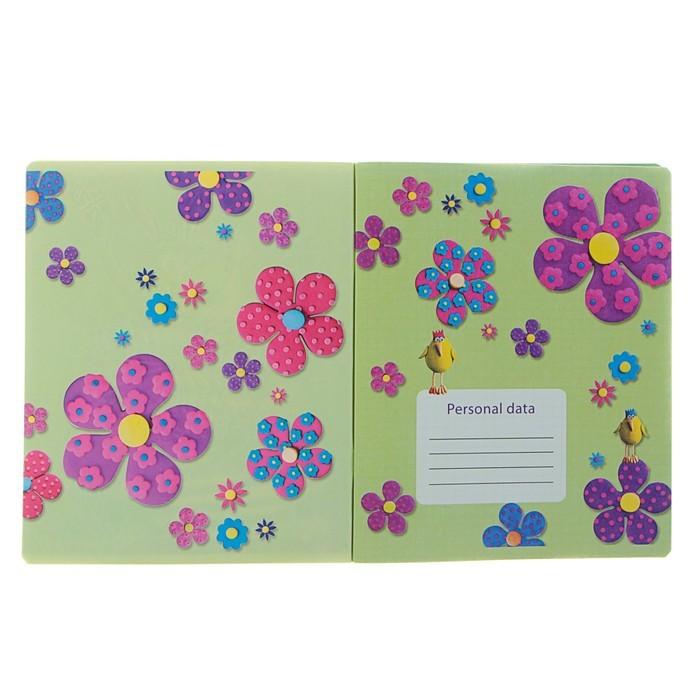 Тетрадь 48 листов клетка «Чудесное настроение 1», обложка мелованный картон, УФ-лак, конгрев, МИКС