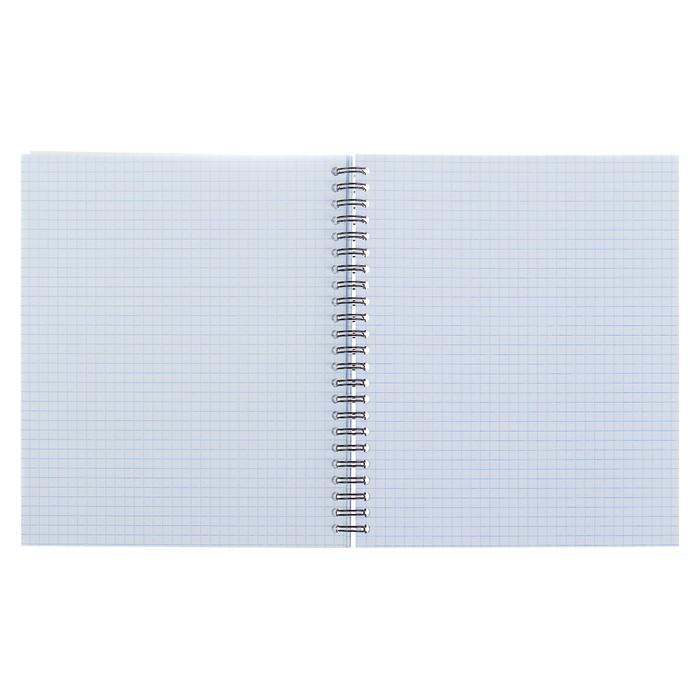 Тетрадь 96 листов, в клетку, на гребне, Erich Krause Soft Line, картонная обложка 190 г/м2