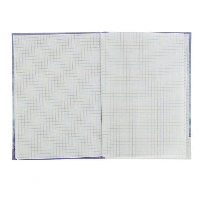 Записная книжка А5, 48 листов «Гортензия», твёрдая обложка