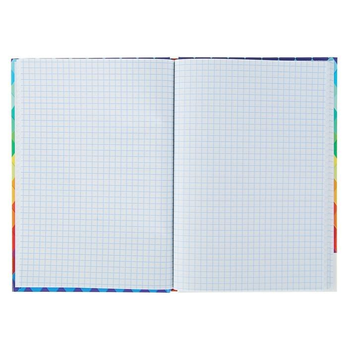 Записная книжка А5, 48 листов «Радужный орнамент», твёрдая обложка, глянцевая ламинация