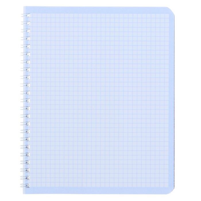 Тетрадь 96 листов клетка на гребне «Серебро. METALLIC», бумвинил