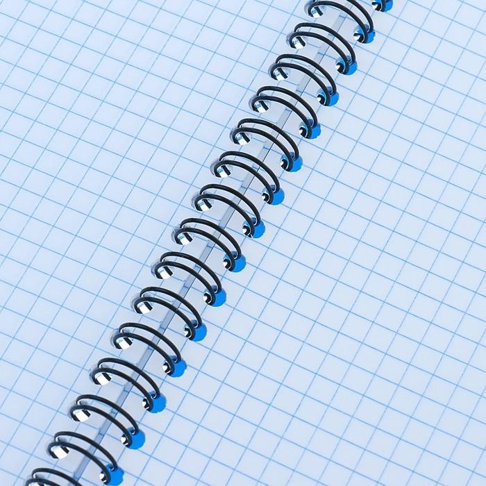 Тетрадь А5, 60 листов, на гребне, Erich Krause Classic, пластиковая обложка, синяя