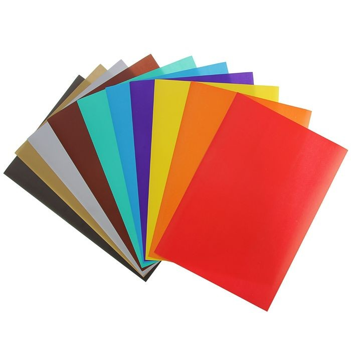 Бумага цветная самоклеящаяся А4, 10 листов, 10 цветов