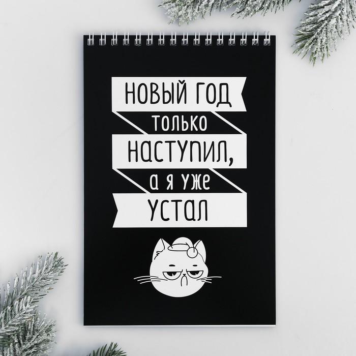 Блокнот «Новый год наступил, а я устал», А5, 40 л
