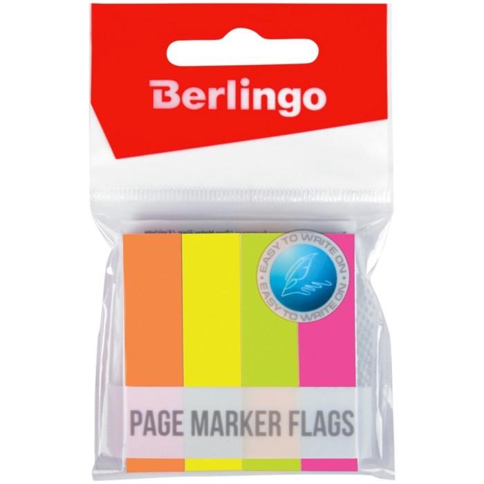 Флажки-закладки 12х50 мм, 4 неоновых цвета по 100 листов