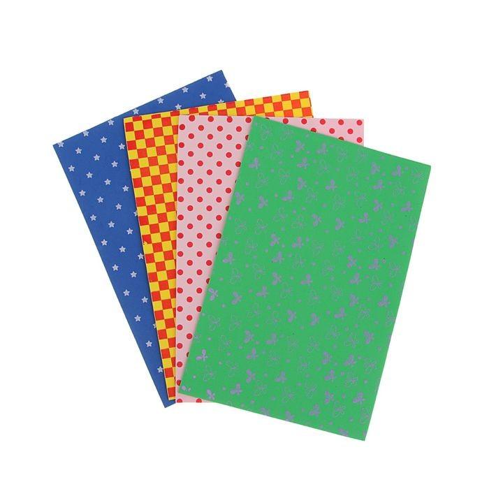 Набор мягкого пластика с рисунком EVA А4, 4 листа, 4 цвета