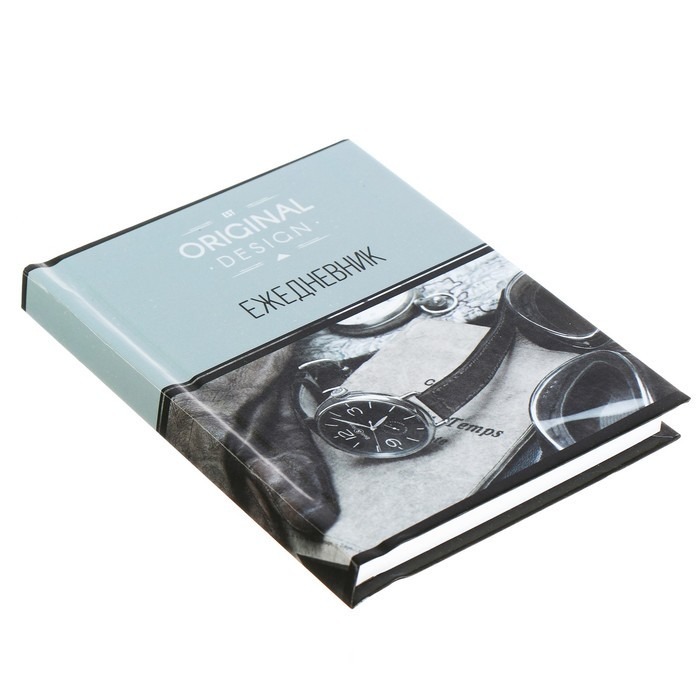 Ежедневник недатированный А6, 128 листов «Офис. Часы», твёрдая обложка, глянцевая ламинация