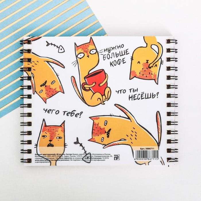 Двойной блокнот Don't stop meow!