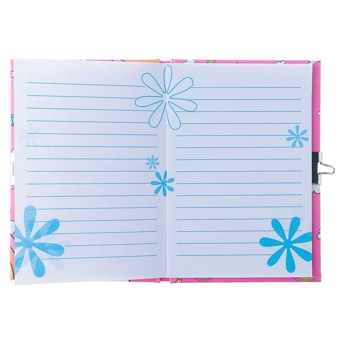 Записная книжка подарочная, формат А6, 50 листов, в линейку, на замке, «Единорог», МИКС