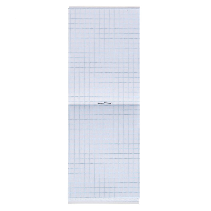 Блокнот А7, 40 листов на скрепке Calligrata «Шотландка», обложка картон хром-эрзац