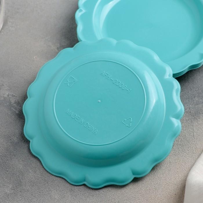 Набор тарелок 6 шт d=17,5 см, цвета МИКС