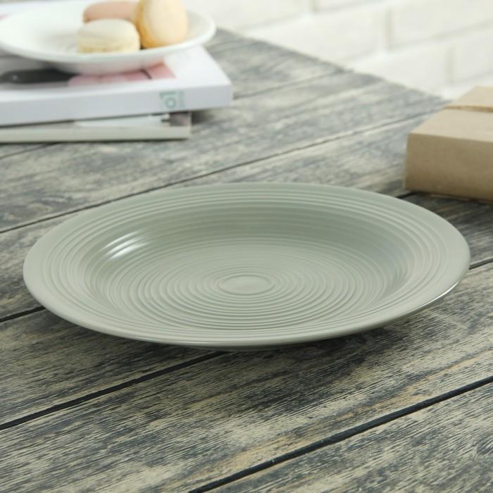 Тарелка десертная «Вихрь», 22 см, цвет зелёный