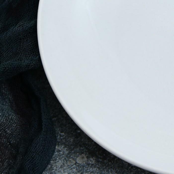 Тарелка Siesta, 21 см, белая 1 сорт