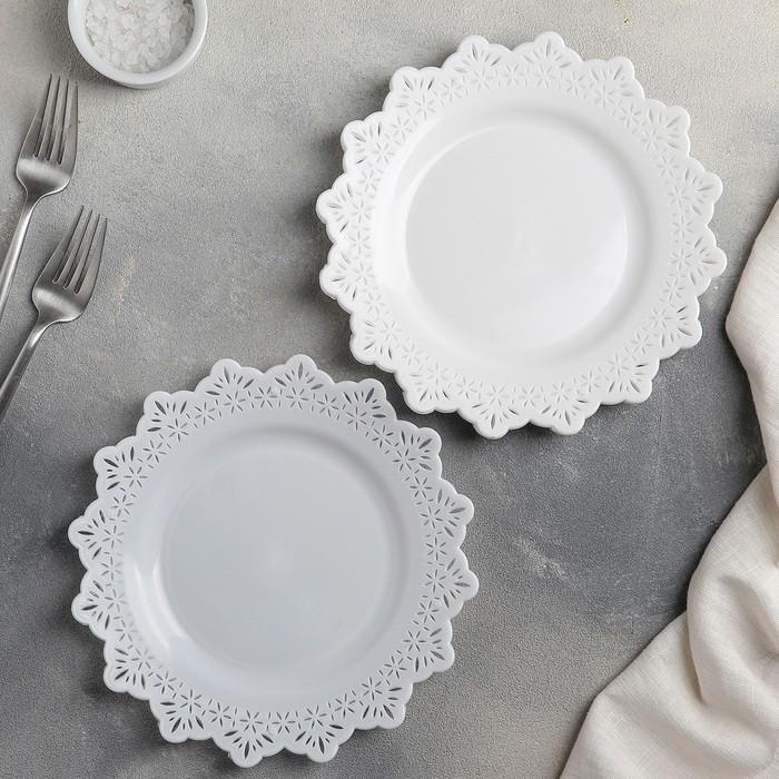 Набор тарелок круглых 20 см