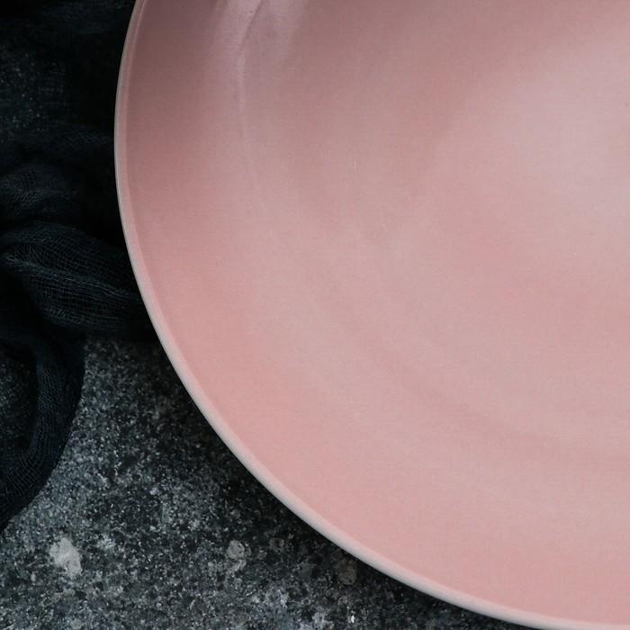 Тарелка Siesta, 27 см, розовая 1 сорт