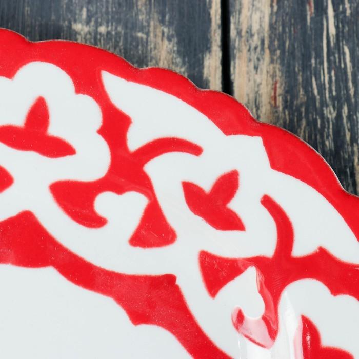 Тарелка овальная 230 код 3002 Пахта красная 23см