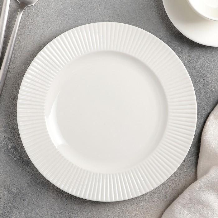Тарелка десертная «Ламбруско», 20,5 см, цвет белый
