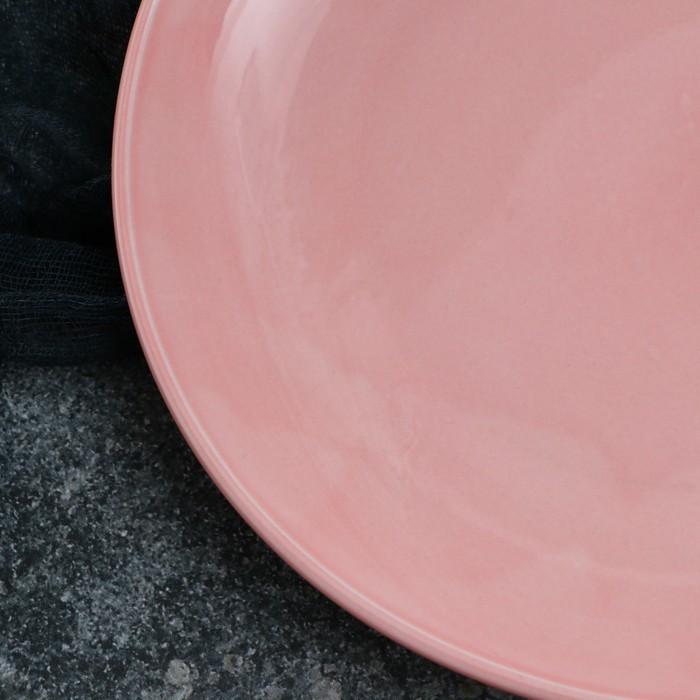 Тарелка Siesta, 22 см, розовая, 1 сорт