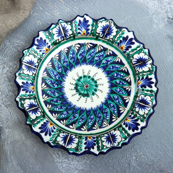 Тарелка плоская, рифленая 17 см