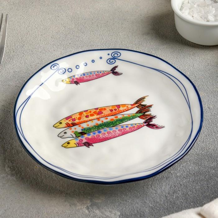 Тарелка пирожковая «Емеля», 15 см, цвет белый