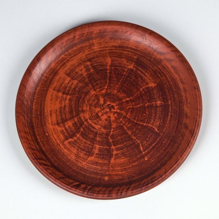 Тарелка малая  20 см красная глина