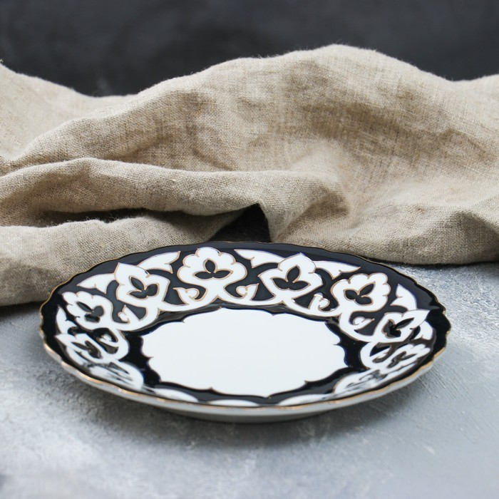 Тарелка круглая «Пахта в золоте», 17.5 см