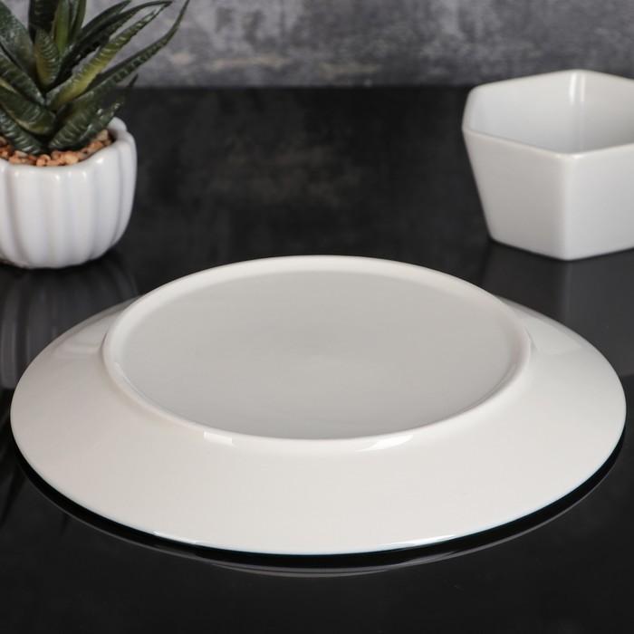 Тарелка десертная «Морской бриз», 20?2,5 см, цвет белый