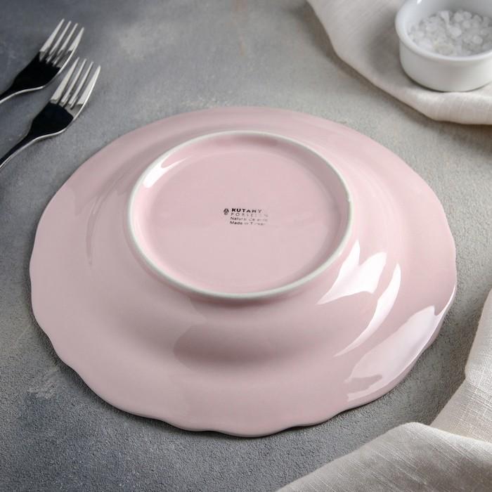 Тарелка глубокая 500 мл Lar, 22 см, цвет розовый