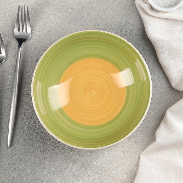 Тарелка глубокая «Зелёный луг», 540 мл, d=18 см