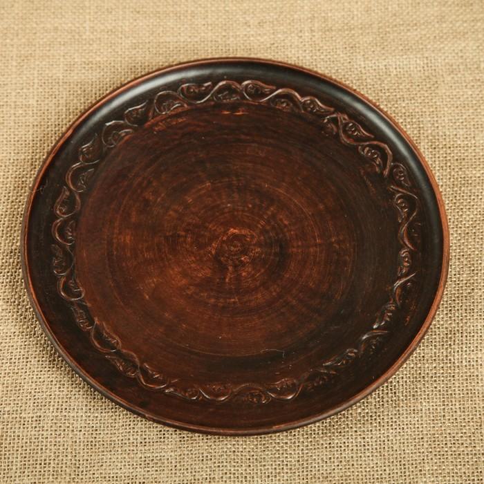 Тарелка d=24 см плоская, с декором