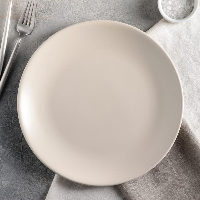 Тарелка обеденная «Пастель», 27 см, цвет крем-брюле