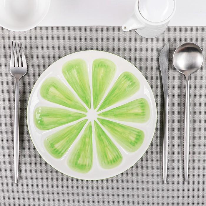 Тарелка «Лайм», 20?2 см, цвет зелёный