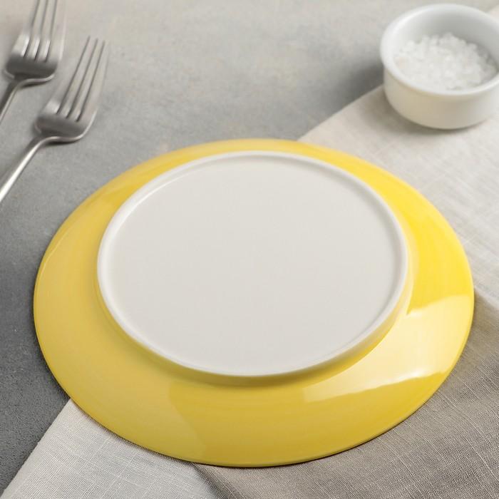 Тарелка «Лимон», 20?2 см, цвет жёлтый