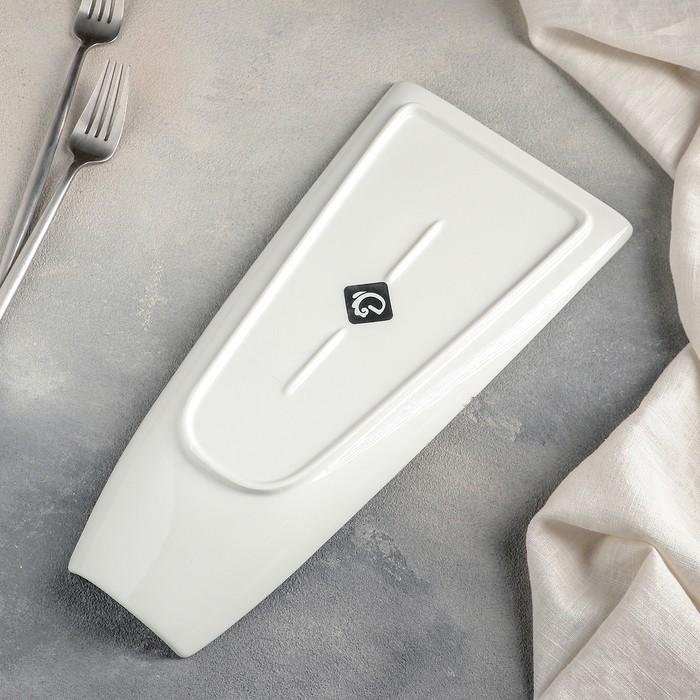 Блюдо «Бланш», 33,5?16?5 см, цвет белый