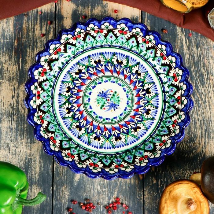 Тарелка плоская, рифленая 22 см