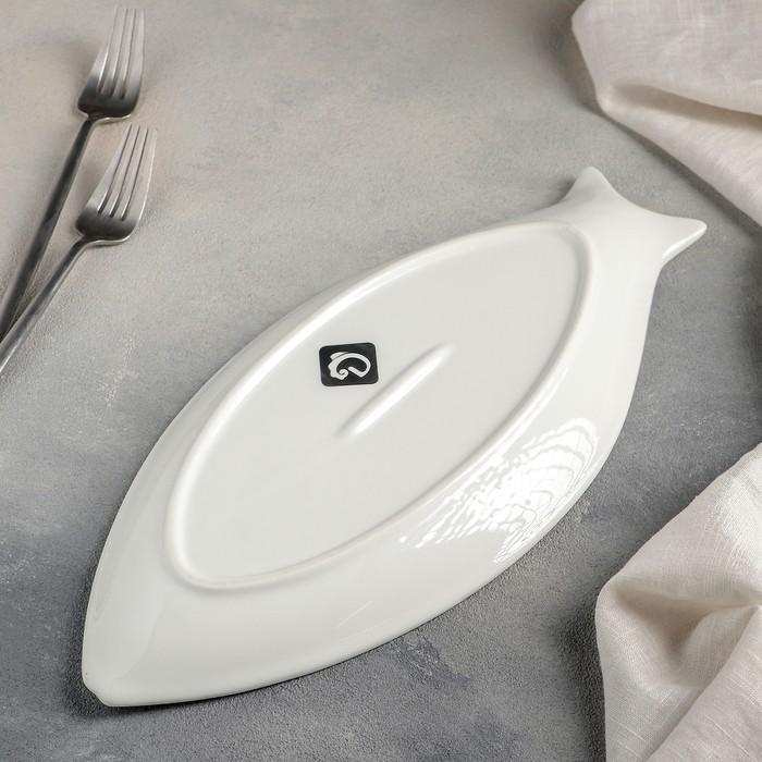 Блюдо «Рыбка», 35?16,5?3 см, цвет белый